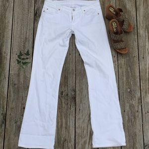 7 for all mankind white flare jeans
